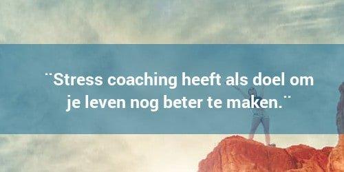 stress coaching doel