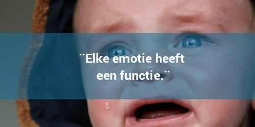 Elke emotie heeft een functie