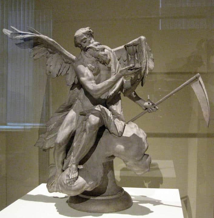 Chronos de griekse god van de tijd