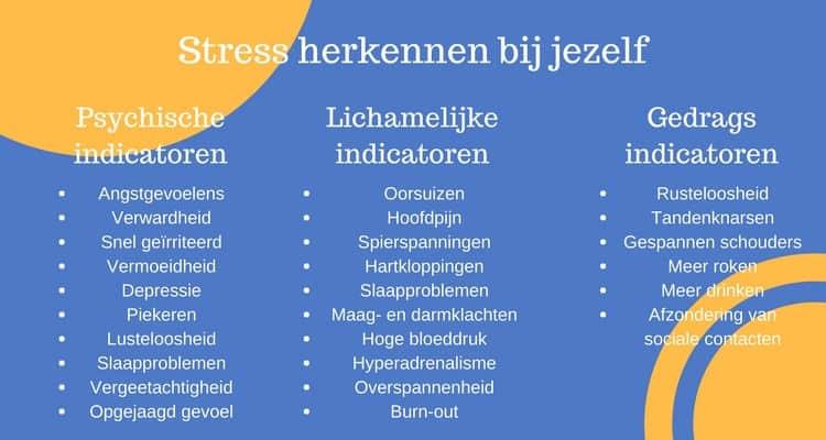 Bij jezelf stress herkennen