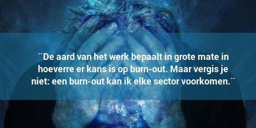 Burn-out komt in elke sector voor